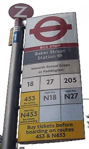 London Bus Stop Flag